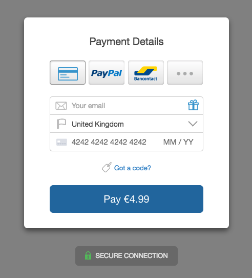 screenshot new checkout v1