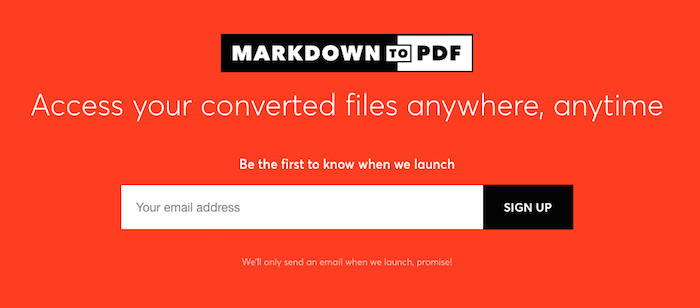 markdown to pdf website
