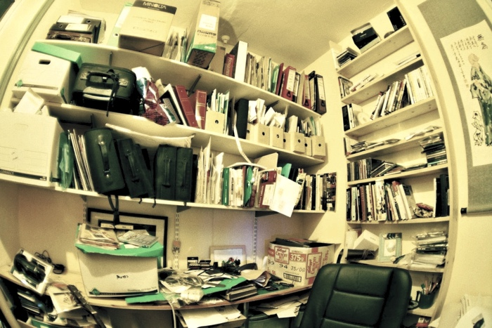 image of very cluttered room