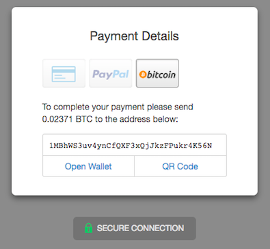 bitcoin option on SendOwl checkout