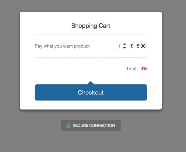 PWYWP checkout screen on SendOwl