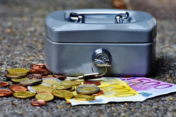 money box with key